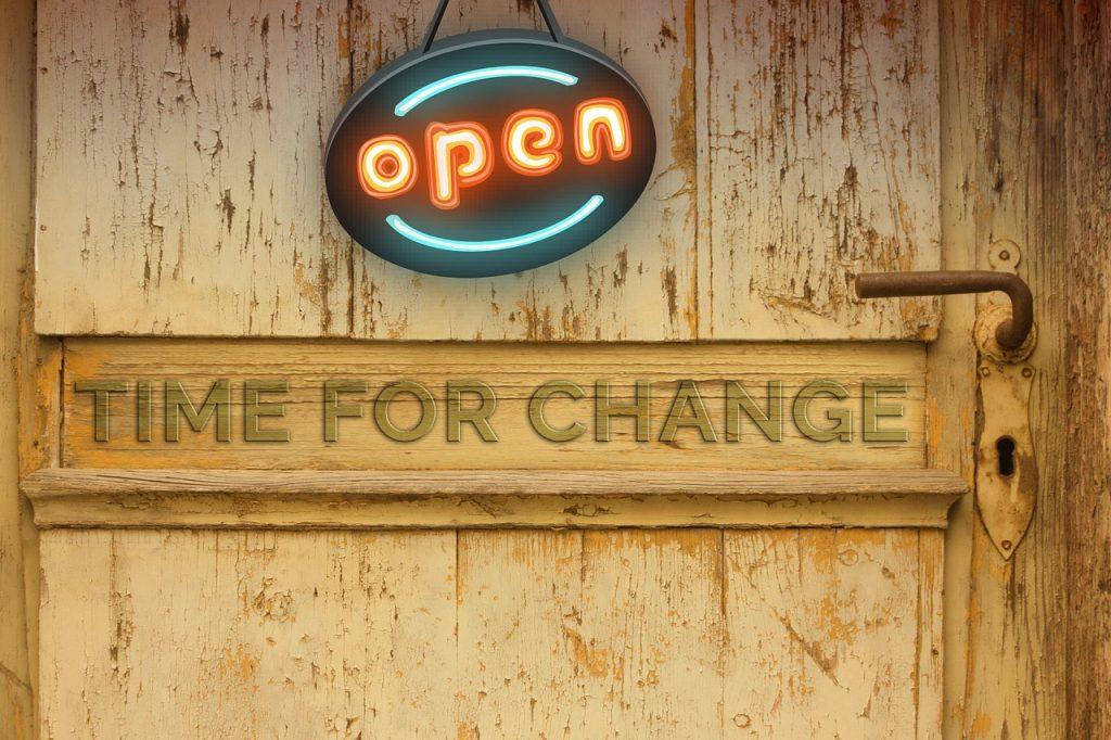 door, change, new beginning